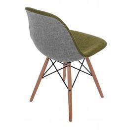 D2.DESIGN Krzesło P016W Duo zielono szare