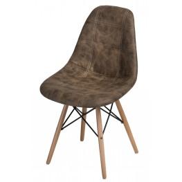 D2.DESIGN Krzesło P016W Pico brązowe ciemne