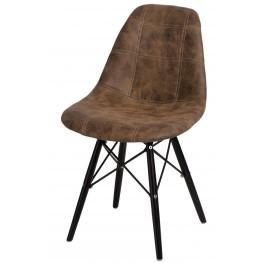 D2.DESIGN Krzesło P016W Pico brązowe ciemne/black