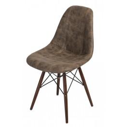 D2.DESIGN Krzesło P016W Pico brązowe ciemne dark