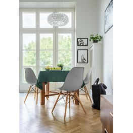 D2.DESIGN Krzesło P016W PP dark olive, drewniane nogi