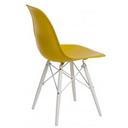 D2.DESIGN Krzesło P016W PP dark olive/white