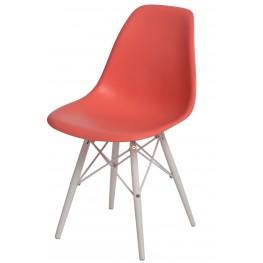 D2.DESIGN Krzesło P016W PP dark peach/white