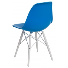 D2.DESIGN Krzesło P016W PP niebieskie/white