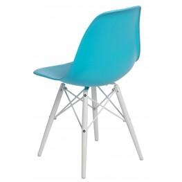 D2.DESIGN Krzesło P016W PP ocean blue/white