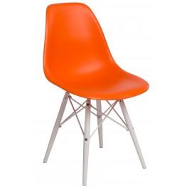 D2.DESIGN Krzesło P016W PP pomarańcz/white