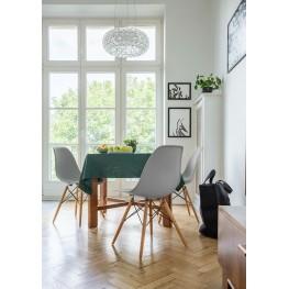 D2.DESIGN Krzesło P016W PP zielone, drewniane nogi