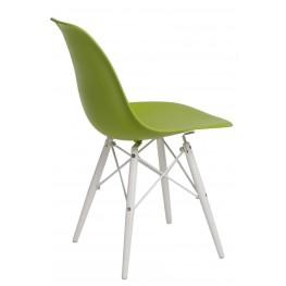 D2.DESIGN Krzesło P016W PP zielone/white