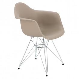 D2.DESIGN Krzesło P018 PP milde grey, chrom nogi HF
