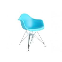 D2.DESIGN Krzesło P018 PP ocean blue, chrom nogi