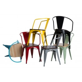D2.DESIGN Krzesło Paris Arms Wood czerw. sosna nat uralna