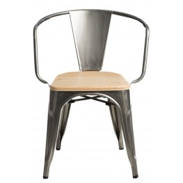 D2.DESIGN Krzesło Paris Arms Wood metal sosna natu ralna