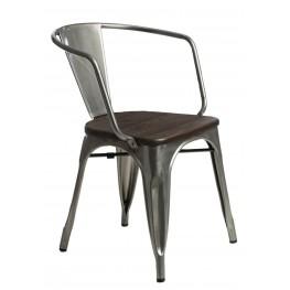 D2.DESIGN Krzesło Paris Arms Wood metal sosna szcz otkowana