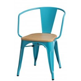 D2.DESIGN Krzesło Paris Arms Wood nieb. sosna natu ralna