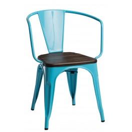 D2.DESIGN Krzesło Paris Arms Wood nieb. sosna szcz otkowana