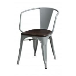 D2.DESIGN Krzesło Paris Arms Wood szare sosna szcz otkowana