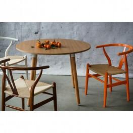 D2.DESIGN Krzesło Wicker Naturalne pomarańczowy in spirowany Wishbone