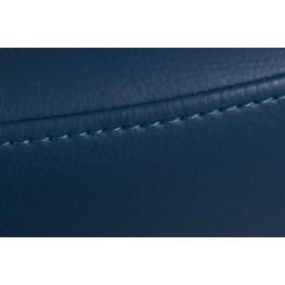 D2.DESIGN Podnóżek Jajo Soft skóra eko 518 niebieski ciemny