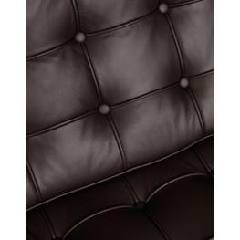 D2.DESIGN Sofa BA2 2 osobowa, brązowa skóra naturalna