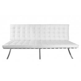 D2.DESIGN Sofa BA3 3 osobowa, biała skóra naturalna