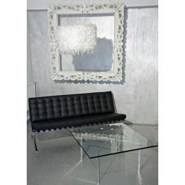 D2.DESIGN Sofa BA3 3 osobowa - Skóra naturalna - Czarna