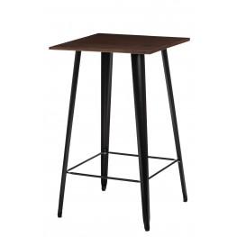 D2.DESIGN Stół barowy Paris Wood czarny sosna orze ch