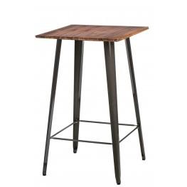 D2.DESIGN Stół Barowy Paris Wood metaliczny sosna
