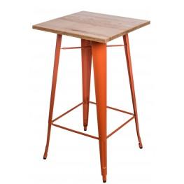 D2.DESIGN Stół barowy Paris Wood pomarańcz jesion