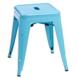 D2.DESIGN Stołek Paris niebieski inspirowany Tolix