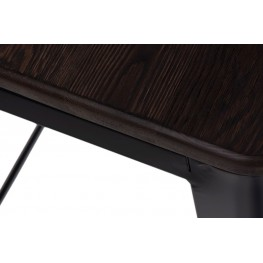 D2.DESIGN Stołek Paris Wood czarny sosna szczotkow