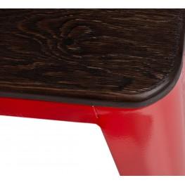 D2.DESIGN Stołek Paris Wood czerw sosna szczotkowa
