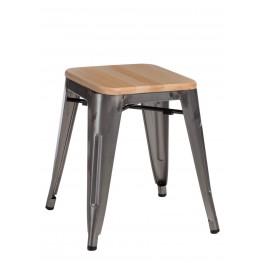 D2.DESIGN Stołek Paris Wood metal sosna naturalna