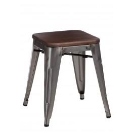D2.DESIGN Stołek Paris Wood metal sosna orzech