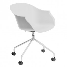 INTESI Krzesło na kółkach Roundy białe