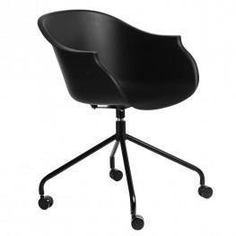 INTESI Krzesło na kółkach Roundy czarne