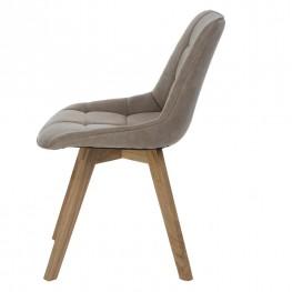 INTESI Krzesło Woody tapicerowane beżowe 1032
