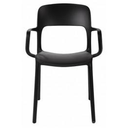 INTESI Krzesło z podłokietnikami Flexi czarne
