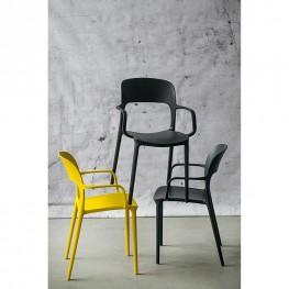 INTESI Krzesło z podłokietnikami Flexi oliwkowe