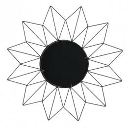 INTESI Lustro okrągłe Volant Czarne  LOFT Industrialne