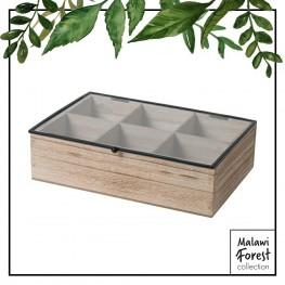 INTESI Organizer Teabox wood 6 przegródek