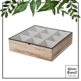 INTESI Organizer Teabox wood 9 przegródek