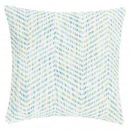 INTESI Poduszka Melange Zigzag 45x45 niebieska