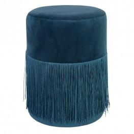 INTESI Pufa Plume Velvet niebieska