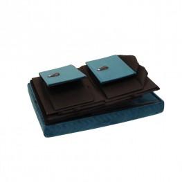 INTESI Pufa z szufladami Hiding 50cm niebiesk a