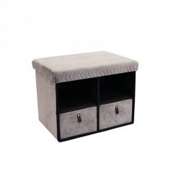 INTESI Pufa z szufladami Hiding 50cm szara