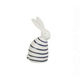 J-LINE Dekoracja Rabbit Strip niebieski ciemny