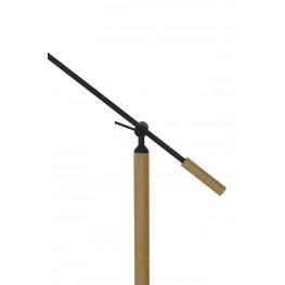 LIGHT&LIVING Lampa podłogowa Tiffin naturalny czarny