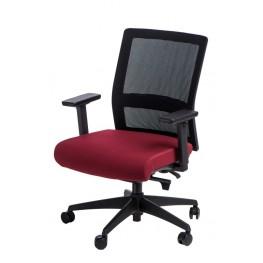 MADUU STUDIO Fotel biurowy Press czarny/czerwony