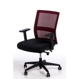 MADUU STUDIO Fotel biurowy Press czerwony/czarny