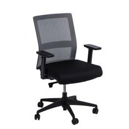 MADUU STUDIO Fotel biurowy Press szary/czarny